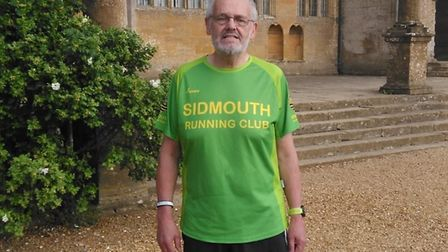 David Skinner after collecting the the letter Y Montacute Parkrun, Yeovil, toeards compelting a full