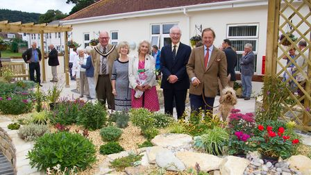 Sidmouth Hospital's Comfort Funds opening of their therapy garden. Ref shs 37 18TI 0711. Picture: Te