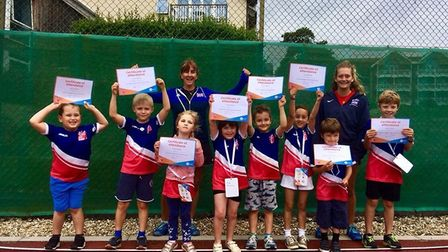 One of the Sidmouth Tennis Club's Tennis4Kids groups. Picture CONTRIBUTED