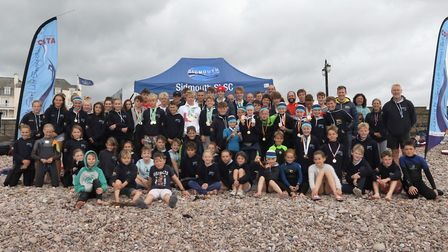 The Sidmouth Surf Lifesaving Club members. Picture SIMON HORN
