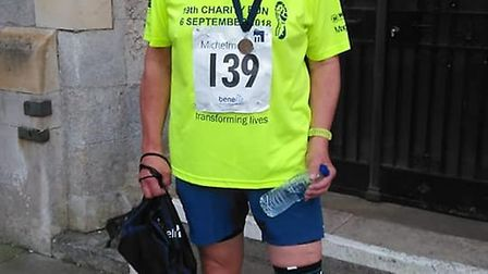 Sidmouth Running Club mmeber David Skinner after completing the Michelmores Exeter 5k. Picture CONTR