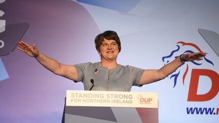 Arlene Foster, Leader of the DUP during the DUP annual conference at the Crown Plaza Hotel in Belfas