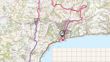 The route for the 2019 Women Can Marathon. Picture: Peg Wiseman