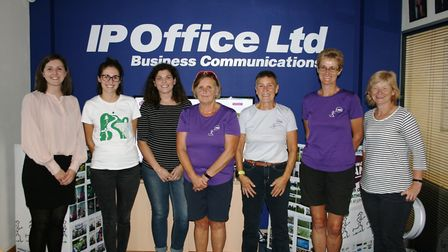 (L-R) Allie Alton-Vanderstay from IP Office Ltd, Genevieve Hinchliff and Becky Millington from South
