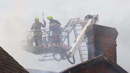 Fire at Ottery St Mary. Picture: Kerry Drew