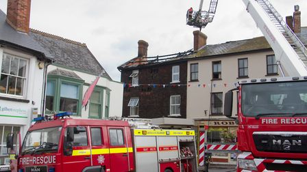 A Fire broke out in a flat above The Pine Store, Broad Street, Ottery St Mary. Ref sho 37 18TI 1486.