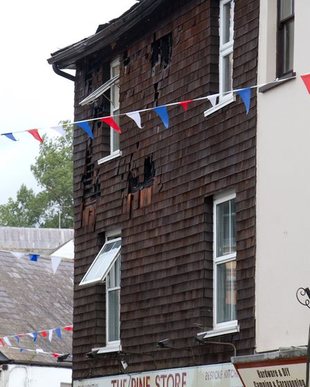 A Fire broke out in a flat above The Pine Store, Broad Street, Ottery St Mary. Ref sho 37 18TI 1484.