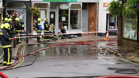 A Fire broke out in a flat above The Pine Store, Broad Street, Ottery St Mary. Ref sho 37 18TI 1473.