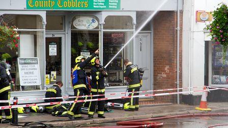 A Fire broke out in a flat above The Pine Store, Broad Street, Ottery St Mary. Ref sho 37 18TI 1466.