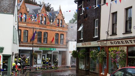 A Fire broke out in a flat above The Pine Store, Broad Street, Ottery St Mary. Ref sho 37 18TI 1464.
