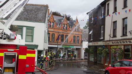 A Fire broke out in a flat above The Pine Store, Broad Street, Ottery St Mary. Ref sho 37 18TI 1461.