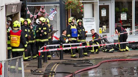 A Fire broke out in a flat above The Pine Store, Broad Street, Ottery St Mary. Ref sho 37 18TI 1456.