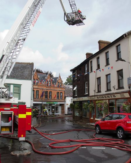 A Fire broke out in a flat above The Pine Store, Broad Street, Ottery St Mary. Ref sho 37 18TI 1450.