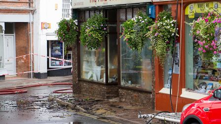A Fire broke out in a flat above The Pine Store, Broad Street, Ottery St Mary. Ref sho 37 18TI 1448.