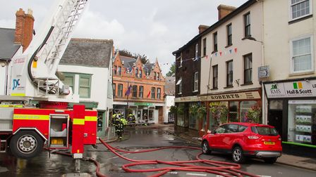 A Fire broke out in a flat above The Pine Store, Broad Street, Ottery St Mary. Ref sho 37 18TI 1446.
