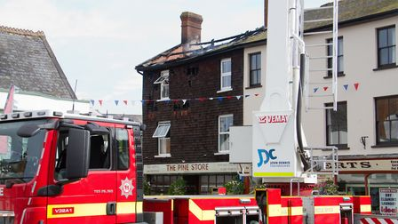 A Fire broke out in a flat above The Pine Store, Broad Street, Ottery St Mary. Ref sho 37 18TI 1444.