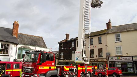 A Fire broke out in a flat above The Pine Store, Broad Street, Ottery St Mary. Ref sho 37 18TI 1443.