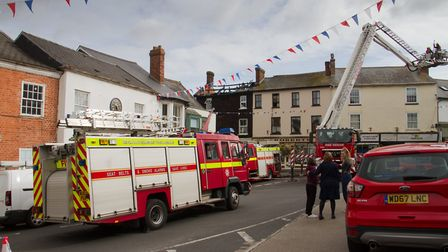 A Fire broke out in a flat above The Pine Store, Broad Street, Ottery St Mary. Ref sho 37 18TI 1441.