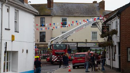 A Fire broke out in a flat above The Pine Store, Broad Street, Ottery St Mary. Ref sho 37 18TI 1437.