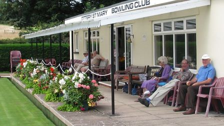 Spectators enjoying the bowling at Ottery St Mary. Picture CONTRIBUTED