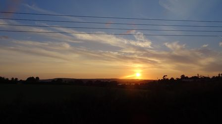 This sunset was taken whilst travelling back to Exmouth on the bus route '57' in the evening of Wedn
