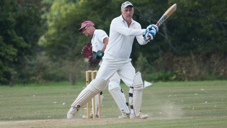 Tiptons Phil Tolley hits a boundary on his way to his 51st century for the club. Picture PHIL WRIGHT