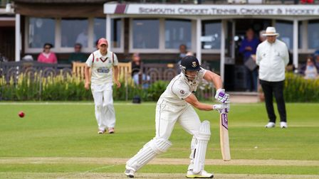 Josh Bess batting for Sidmouth at home to Torquay. Ref shsp 23-17TI 3915. Picture: Terry Ife