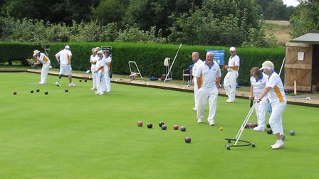 Action from the Ottery St Mary club triples competiiton. Picture: CONTRIBUTED