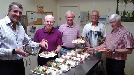 The men who provided an excllent tea at the Lady Captains Day meeting. Picture: CONTRIBUTED