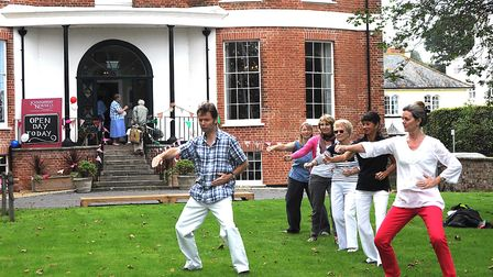 Tai Chi demonstration at Kennaway House. Picture: Colin Bowerman