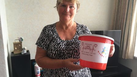 Marion Baker, fundraising to buy reclining chairs for cardiac patients at the RD&E Hospital. Picture