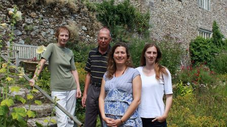 Stella, Stephen, Caroline and Diana in the garden at Sand. Picture: Contributed