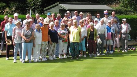 Members who turned out in force for the Captains Day at Ottery St Mary Bowls Club.
