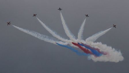 Red Arrows in Sidmouth. Picture: Simon Horn