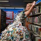 Nicci poses in her dress at Honiton Library. Picture: David Brine