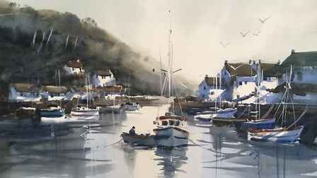 One of Amanda Hyatt's watercolours, showing her distinctive technique. Picture; Contributed