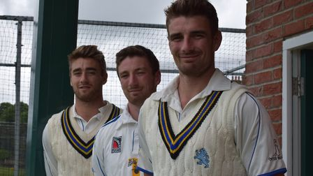 Sidmouth cricketers Zak, Luke and Josh Bess, who made history when all three played for Devon again