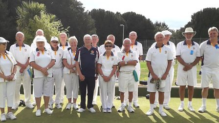 Sidmouth Bowls Club, all the club competition finalists. Picture CONTRIBUTED