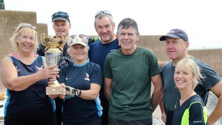Team 'A', who were crowned winners at the Sidmouth Gig Club interal regatta meeting. Picture CONTRIB