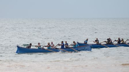 Sidmouth Gig Club crews in action during the club's internal regatta. Picture CONTRIBUTED