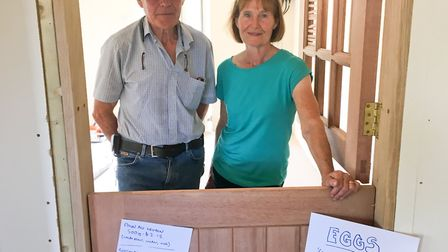 John and Anne Brown inside their new farm shop. Picture: Clarissa Place