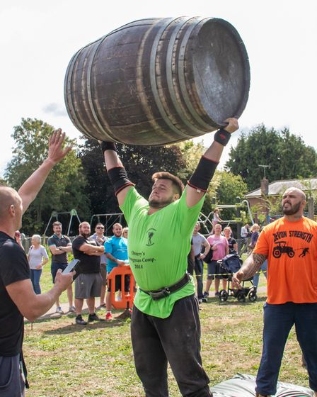 Jordan Davies won the overhead lifting medley in the Strongman competition. Picture: Chels Underhill