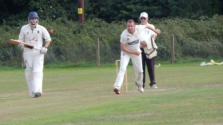Sidmouth 3rd XI bowler Fionn Wardrop in action against Bradninch 2nds.