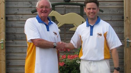 Frank Jones and Steve Goodenough, winners of the Ottery St Mary men's pairs. Picture: CONTRIBUTED