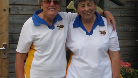 Margaret Bright and Val Jones, winners of the Ottery St Mary ladies pairs. Picture CONTRIBUTED