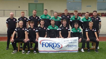 Sidmouth Town before their FA Vase win at Keynsham Town. Picture: CONTRIBUTED