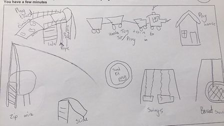 Designs by the children. Picture: Contributed