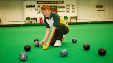 Axminster Bowls player James Windsor. Ref edr 33 18TI 9923. Picture:: Terry Ife