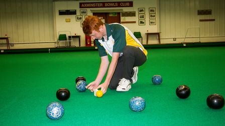 Axminster Bowls player James Windsor. Ref edr 33 18TI 9920. Picture:: Terry Ife