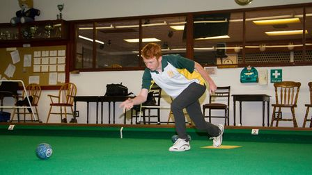 Axminster Bowls player James Windsor. Ref edr 33 18TI 9914. Picture:: Terry Ife